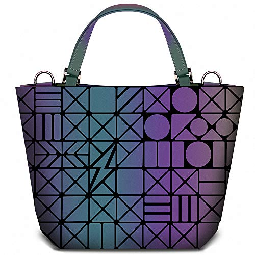 Geometric Grid Holographic Handbags, Colour Changing