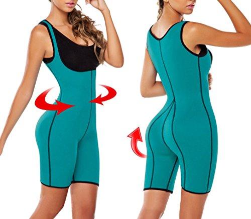 Tuta body sauna modellante effetto snellente a pantaloncino in vari colori. MEDIA WAVE store ® Blu