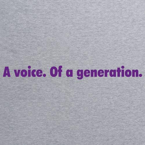 A Voice of a Generation T-Shirt, Herren Grau Meliert