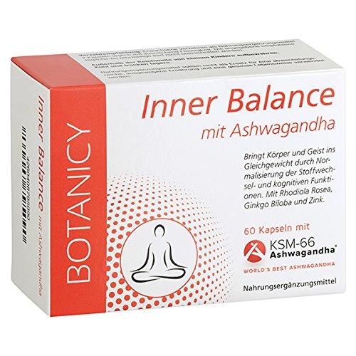 """INNER BALANCE mit Ashwagandha KSM-66 - Das """"Kraut"""" gegen den Stress* (60 Kapseln reicht bis zu 30 Tage) (30 Kapseln Balance,)"""