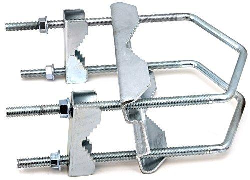 SKT ZTI05-01 Sat Doppel-Kreuzschelle Mastbefestigung bis 130 mm Rohr verzinkt (Doppel-platte Bügel)