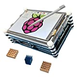 Haiworld KIT Moniteur Pour Raspberry Pi 3 b / 2b, 3.5' TFT écran tactile + 9 couches boitier + dissipateurs de chaleur (3 éléments)