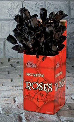 43Cm Black Rose Seasonal Halloween Party Decorations Tableware & Sfx Props