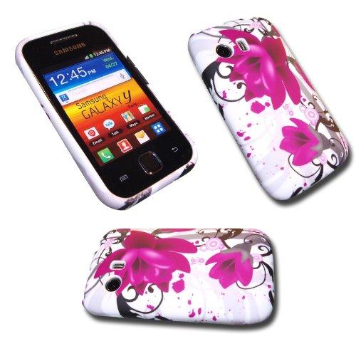 Silikon Case Handy Tasche f. Samsung GT-S5360 Galaxy Y / Handytasche Flower M3