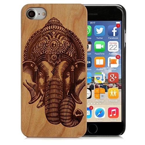 Arktis iPhone 8 / 7 Case, Arktis Holzhülle Holz Cover - Weltkarte Indischer Elefant