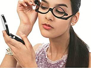 Veena Black Color Makeup Reading Glass Folding Eyeglasses Cosmetic Magnifying Glasses Rotatable Frame Cosmetic Tool350