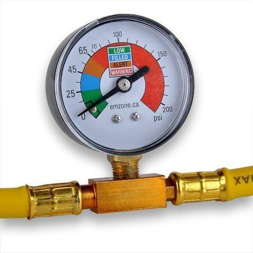 INHDBOX R134A Klimaanlage Klimaschlauch Kältemittel Manometer Druckmanometer -