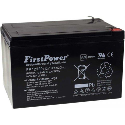 FirstPower Batería de GEL para Sillas de ruedas Scooter eléctrico Vehículos eléctricos 12Ah 12V VdS