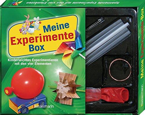 Preisvergleich Produktbild Meine Experimente-Box-Set: Kinderleichtes Experimentieren mit den vier Elementen: Feuer,  Erde,  Luft und Wasser. Mit Strohhalmen,  Luftballon,  LED-Lämpchen,  Draht,  Kartons mit ausgestanzten Formen