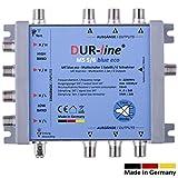 DUR-line MS 5/6 Blue eco - Stromspar Multischalter SAT für 6 Teilnehmer/TV - kein Netzteil notwendig - 0 Watt Standby Multiswitch [Digital, HDTV, FullHD, 4K, UHD]