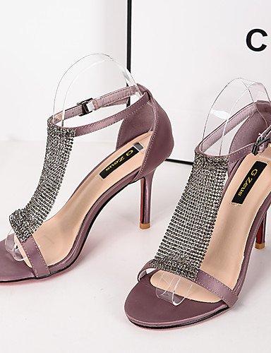 WSS 2016 Chaussures Femme-Habillé-Noir / Violet-Talon Aiguille-Talons / Bout Arrondi / Bout Ouvert-Talons-Similicuir purple-us5.5 / eu36 / uk3.5 / cn35