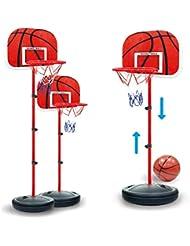 Foxom niños ajustable portátil soporte para canasta de baloncesto aro Set , 63 - 150 cm