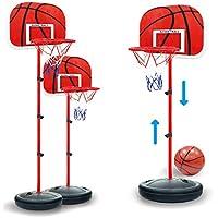 Winni43Julian Basketballkorb mit Ständer, 63-150cm Einstellbare Basketballständer mit Pumpe, Basketball Korb Set für Kinder