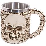 Outgeek Coffee Mug Halloween Decorative Skull Stainless Steel Tea Mug Drinking Mug Tea Cup