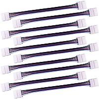 LitaElek 10x RGBW LED Streifen Schnellverbinder 5 Polig LED Stripe Verbinder Eckverbinder Verbindungskabel Anschlusskabel für 12mm Breit SMD 5050 RGBW LED Strip LED Band Leiste, 17cm lang, Ohne Löten