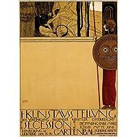 Poster 30 x 40 cm: Art exhibition Austria di Gustav Klimt - stampa artistica professionale, nuovo poster