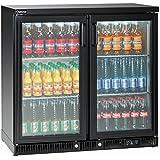 Bartscher enfriador de botellas 220L 2puertas 84185019art. 110138