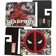 Marvel Deadpool Cómic Impresión Logo Cartera