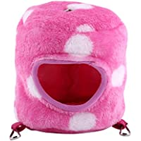 GLOGLOW Pet Nest, Flannel Warm Hamster Mouse House Ropa de Cama Squirrel Rata Animales Pequeños Pet Home Hanging Bed 4 Colores(Rosa)