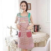 WEILIVE Grembiule da Cucina Grembiule Stile Coreano Moda Cucina Bella  Impermeabile a Prova di Olio Cuoco c05f5837c342