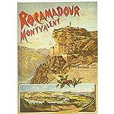 FRANCIA VINTAGE POSTER CARTEL PUB RETRO 50x70cm Ferrocarril Orleans Rocamadour y Montvalent