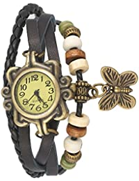 TESLO Black Dial Slim And BUTTERFLY Bracelet Watch For GIRLS AND WOMEN OR TEENGIRLS Watch |3 MONTH WARRANTY |