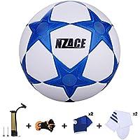 Soccer Balles de sports de plein air Practise Pro Ballon de foot Taille 5Performance de niveau supérieure Pompe incluse et filet de transport