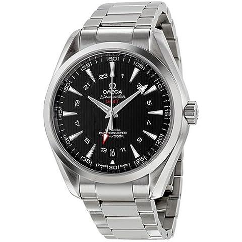 Omega Seamaster Aqua Terra GMT Automático Negro Dial Acero inoxidable reloj para hombre