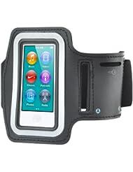TRIXES Bracelet sport pour la course pour iPod Nano 7 + poche pour clé, noir