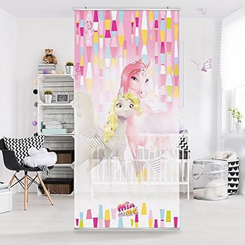 Panel japones Mia and Me - Unicorns Lyria and Onchao 250x120cm, panel japonés, paneles japoneses, separadores de ambientes, cortina, paneles japoneses cortina, cortinas, Tamaño: 250cm x 120cm