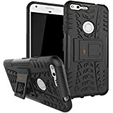 Dream2cool Military Grade Armor Kick Stand Back Cover Case For Google Pixel XL 5.5 Inches , Black