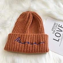 QINCH Home Cappelli di Lana Alfabeto Inglese Stile Semplice e Versatile per  Uomini e Donne Autunno 2125429dc5a6