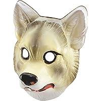 Tiere Natur Jungle Fancy Xmas Up Party Kleid Kunststoff Wild Face Maske One Size Gr. Einheitsgröße, - Wolf