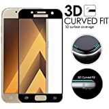 nzon Full Coverage Curved Scratch Proof Bubble-free Tempered Glass Protector for Samsung Galaxy A5 (Black)