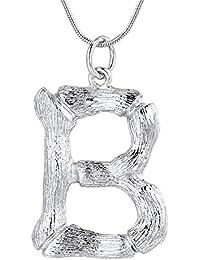 b476820a66cb FOCALOOK Collar Pendiente de Colgante Nombre Inicial Alfabeto A-Z Diseño  Especial con Cadena Serpiente…