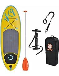 Pack stand up paddle gonflable K9 avec pompe haute pression, pagaie, sac de rangement et coiled leash