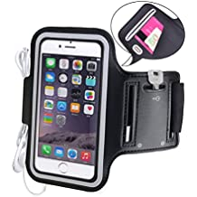 "Avantree iPhone 6 6S (4,7"") Brazalete, Running Sports Gym Brazalete para iPhone 5 5s 5C 4S Samsung Galaxy S3 S4 HTC One con llavero, sujeta cables y porta tarjetas - Shield"