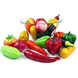 hyperboles Set of 12 Realistic Artificial Foam Decor Vegetables Decorative Food Set