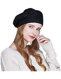 YaToy Invierno boina mujeres tejiendo sombreros de lana moda boina sombrero  francés 8e762dbbbdf