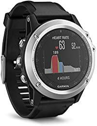 Garmin - Fēnix 3 Silver HR Cardio Poignet - Bracelet Silicone - Montre GPS Multisports Outdoor