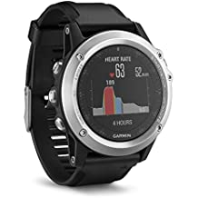 Garmin 010-01338-77 Fenix 3 HRM - Reloj multideporte con GPS y correa, Reloj Plata/Correa Negra, Talla única
