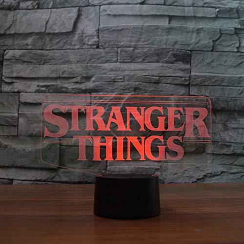 (Nmdztz Nachtlichter 7 Farben Ändern 3D Acryl Led Leucht Fremde Form Tischlampe Büro Wohnkultur Kind Film Nacht Nachtlicht Geschenk)