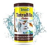 Tetra TetraMin - Aliments Premium Complet pour tous les Poissons Tropicaux - Favorise la Croissance la santé et la Longévité - Renforce la Couleur- en Flocons - 250 ml