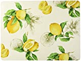 Benson Mills Bordeaux 100Prozent Kork Tisch-Sets, Set von 4, zitronengelb, 12 x 16