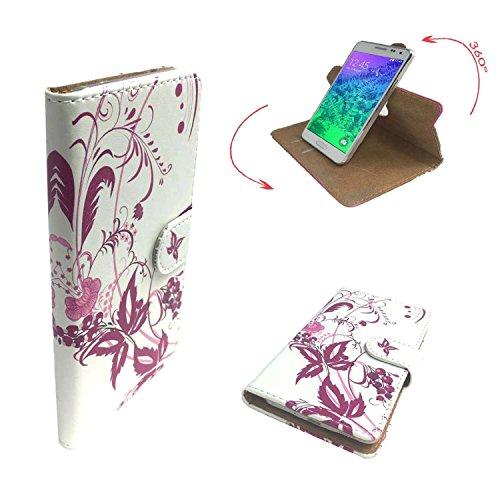 TIMMY M9 Smartphone Tasche / Schutzhülle mit 360° Dreh und Standfunktion - 360° Schmetterling 3 Nano L