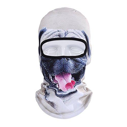 ECYC Warm Gesichtsmaske Winddichte Balaclava Kapuze für Motorrad Ski Winter Schneemobil Outdoor Forschung Kaltes Wetter [Grey Puppy Dog]