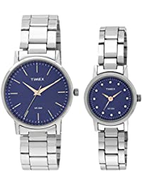 Timex Classics Quartz Analog Blue Dial Couple Watch - TW00PR199