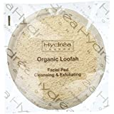 Hydrea London Organic Loofah Facial Pad Cleansing & Exfoliating Round Skin Care