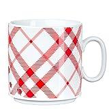 Feinkost Käfer GmbH 102737 Geschirr, Porzellan, Weiß/Rot, 10.5 x 8 x 8 cm, 1 Einheit