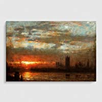 Arty Pie Art Print Poster A1 (84.1 x 59.4 cm / 33.1 x 23.4 Inch) J.M.W. Turner (Joseph Mallord William Turner) Westminster Sunset preiswert